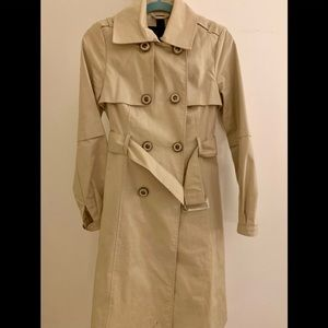 Like new! Tan Mackage, double breasted trench.
